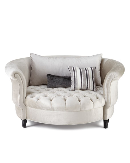 Image 3 of 4: Haute House Harlow Silver Cuddle Chair