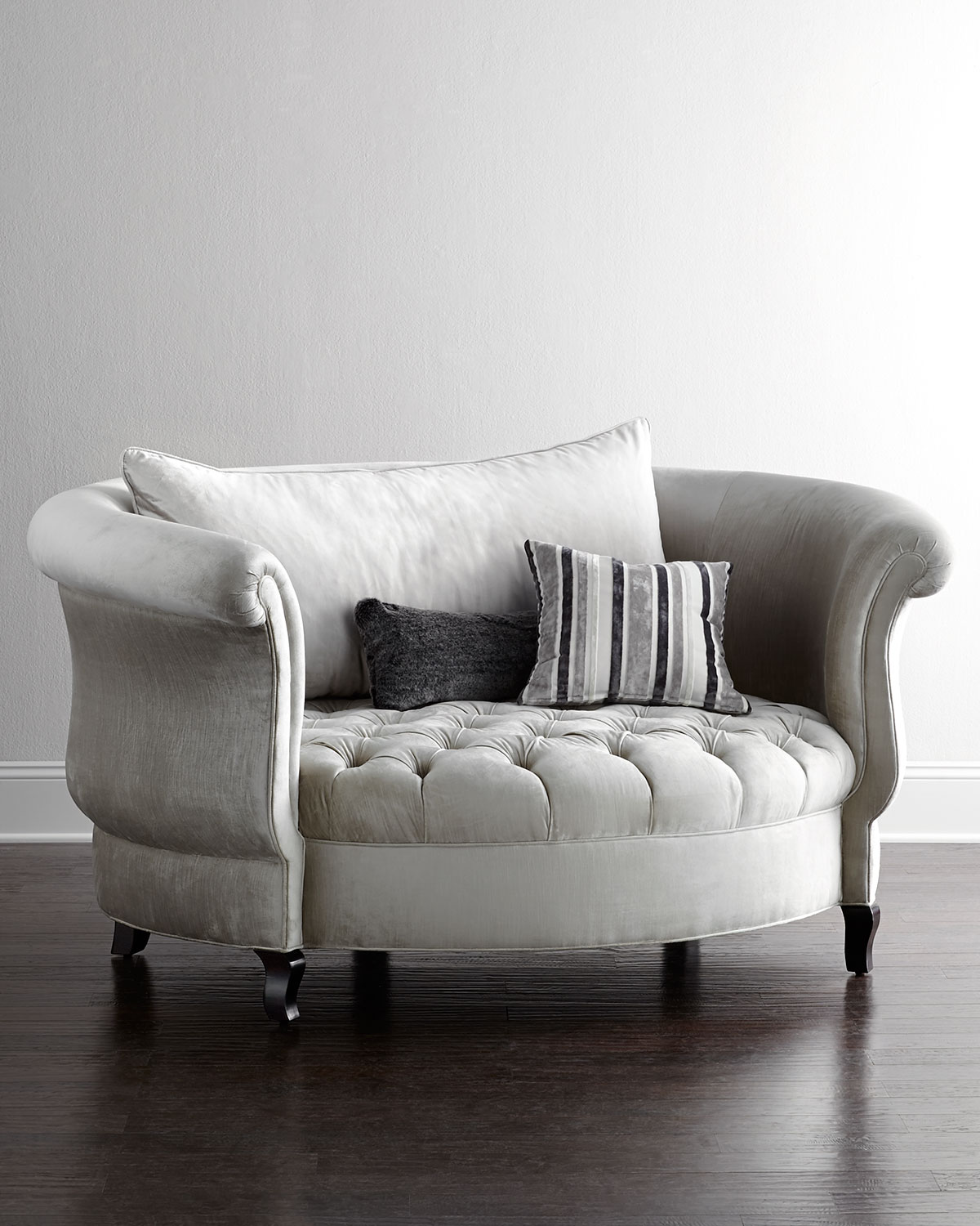 Haute House Harlow Silver Cuddle Chair