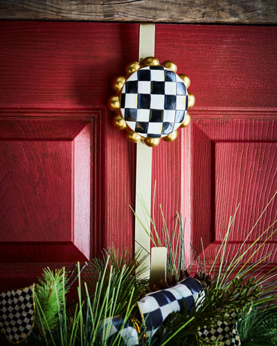 Courtly Check Wreath Hanger  12
