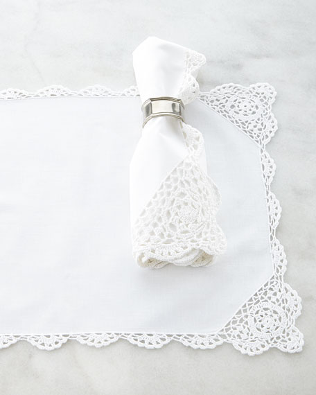 12 Crochet-Edge Placemats
