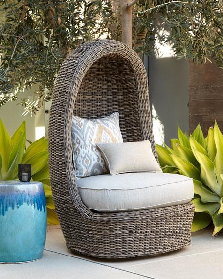 Neimanmarcus Madison Vesper Fog Swivel Lounge Chair