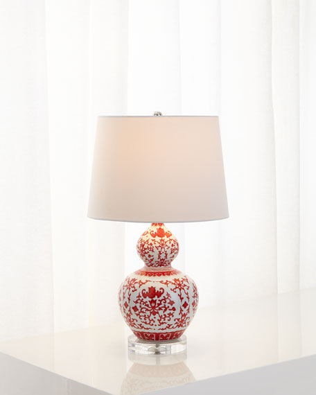 Amazing Chinoiserie Ceramic Lamp
