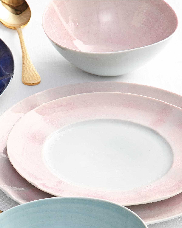 12-Piece Pink Brushstroke Dinnerware Service & Dishwasher Safe Portugal Dinnerware | Neiman Marcus