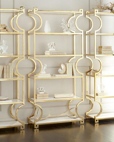Hayworth Brass Etagere