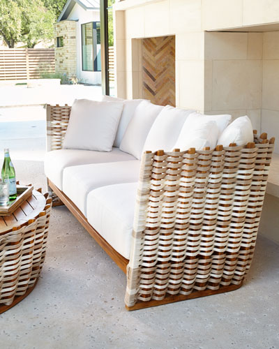 Palecek San Martin Outdoor Sofa - Luxury Outdoor & Patio Furniture At Neiman Marcus