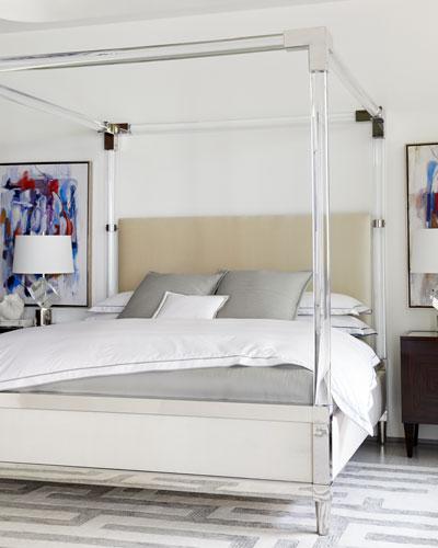 Rayleigh Acrylic King Canopy Bed