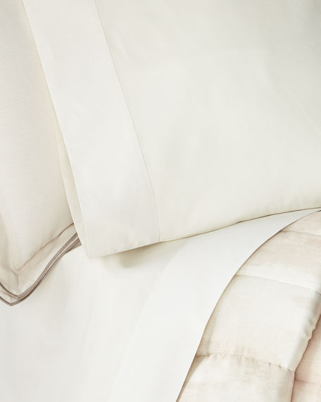 Michael Aram Striated Band King Pillowcases, Set of 2