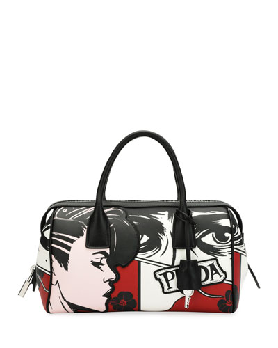Prada Comic Print Bowler Bag