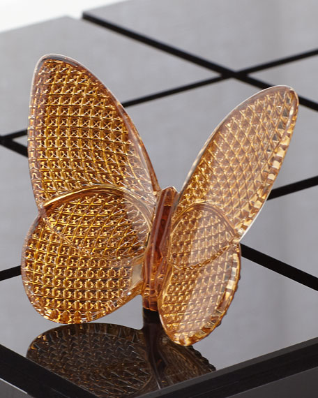 Image 1 of 2: Baccarat 20K Gold Diamant Lucky Butterfly