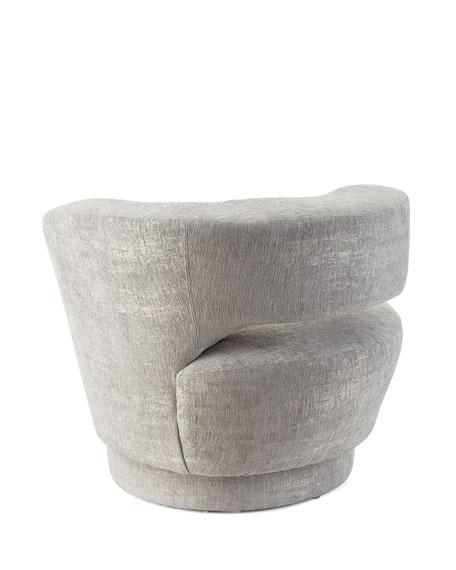 Interlude Home Arabella Left-Arm Swivel Chair