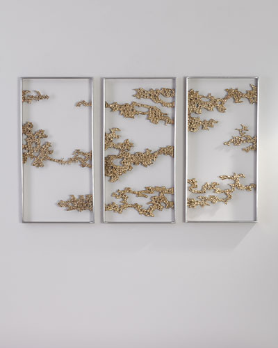 Chinoiserie Hanging Sculptures  Set of 3