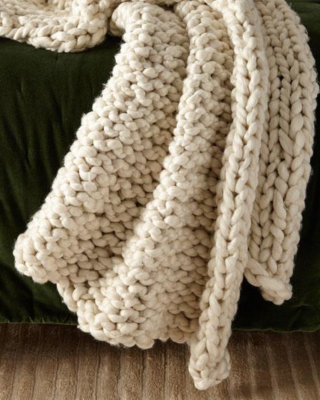 Amity Home Hannah Chunky Knit Throw