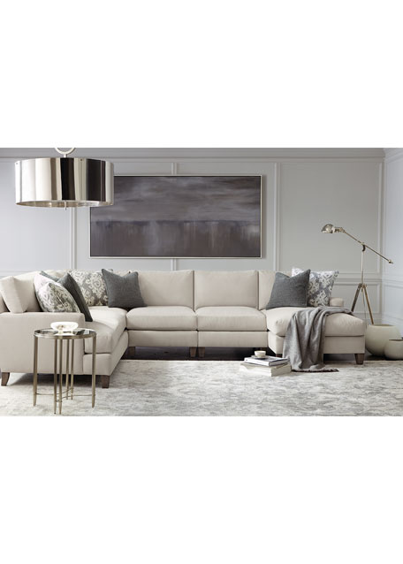 Image 1 of 2: Bernhardt Mila Right Armed Chaise Sectional