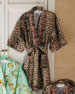 Image 2 of 3: LEOPARD SHORT ROBE