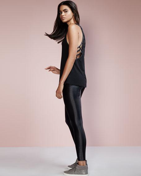 Lustrous Shiny Athletic Leggings