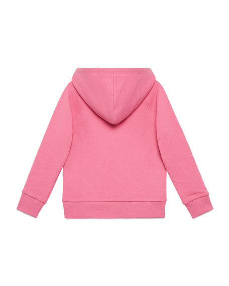 Gucci Vintage Logo Hooded Sweatshirt, Size 4-10