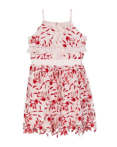 Milly Lace Ruffle Sleeveless Dress  Size 8-16