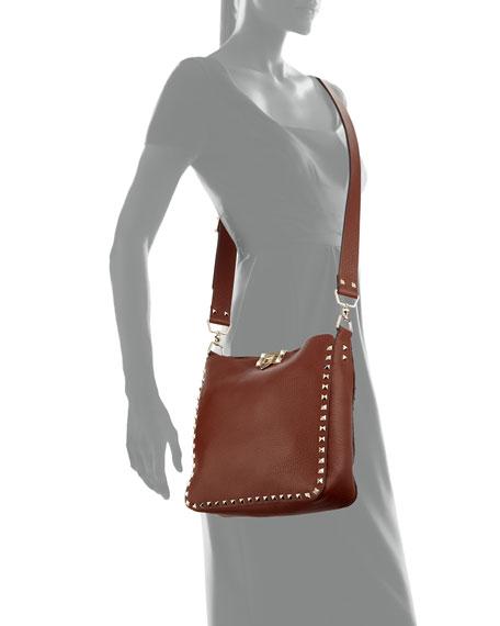 Rockstud Small Flip-Lock Hobo Bag