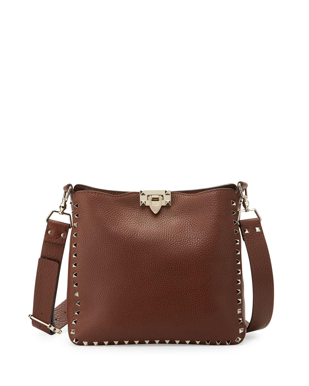 Valentino Garavani Rockstud Small Flip-Lock Hobo Bag  4dfa352936d60