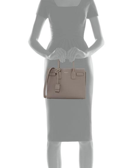 Sac de Jour Baby Topstitched Leather Satchel Bag