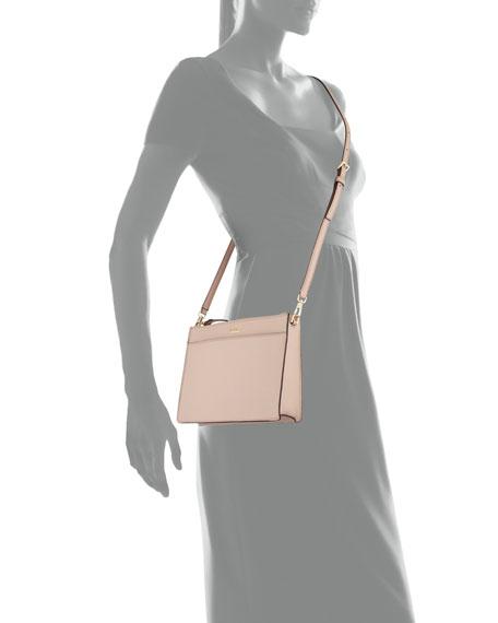 cameron street clarise leather clutch bag