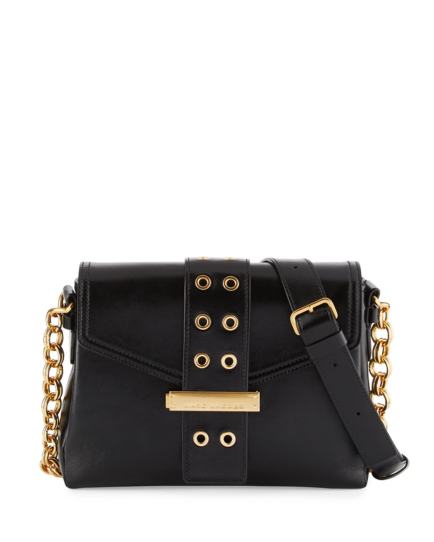 cf9b439edc9 Marc Jacobs Lock & Strap Leather Shoulder Bag   Neiman Marcus