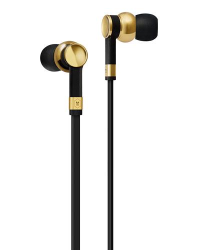ME05 In-Ear Headphones  Brass Metal/Black Rubber