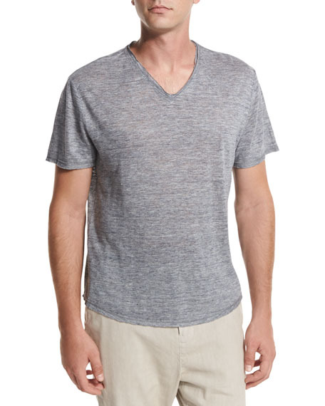 Gaskell Raw-Edge V-Neck T-Shirt