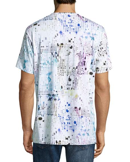 Dhruv Paint-Splatter T-Shirt, White