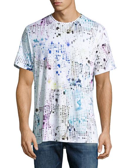 Robert Graham Dhruv Paint-Splatter T-Shirt, White