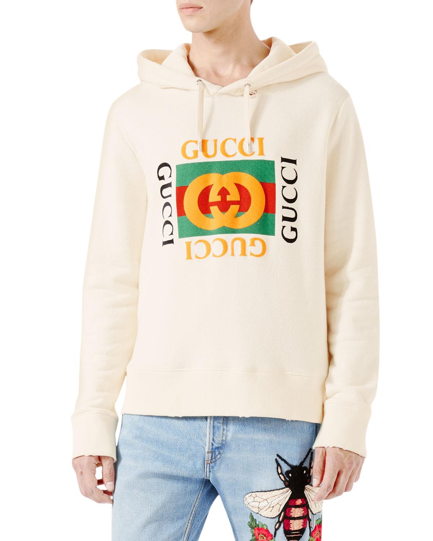 016429b2 Gucci Cotton Sweatshirt w/Logo Print | Neiman Marcus