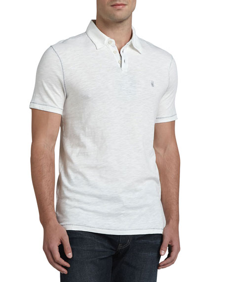 John Varvatos Star USA Polo with Pickstitching