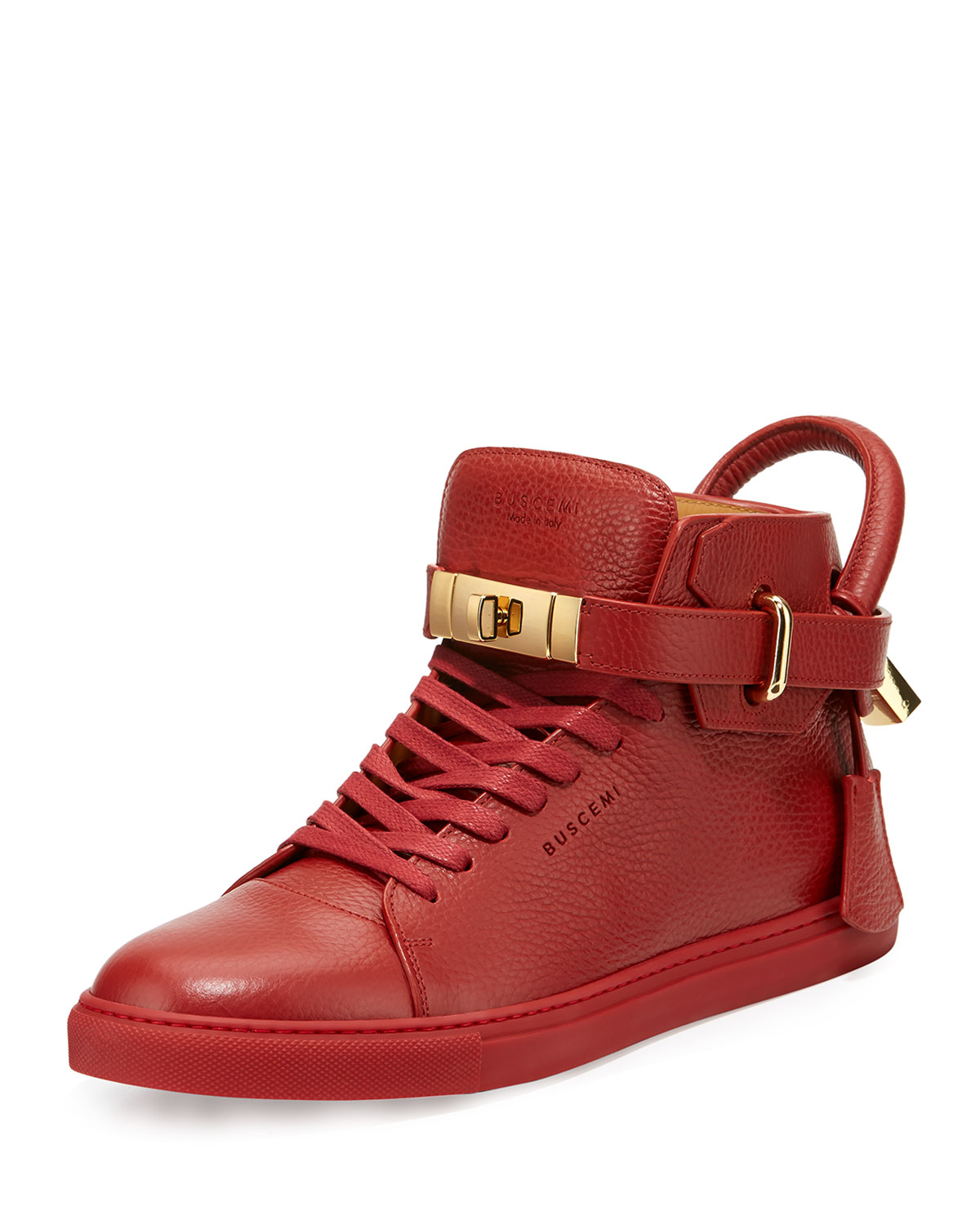 Top Neiman High Buscemi Men's Sneakers 100mm Marcus Red Yv74tq1w