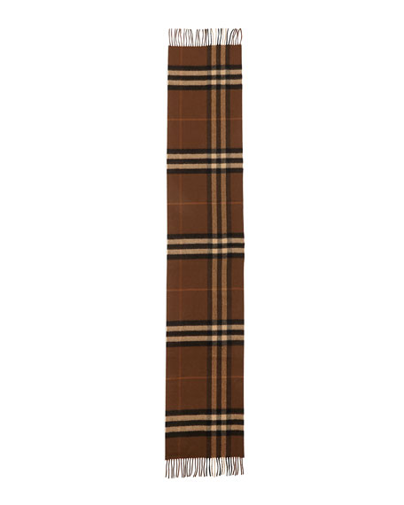 Burberry Men's Cashmere Giant Icon Scarf, Brown
