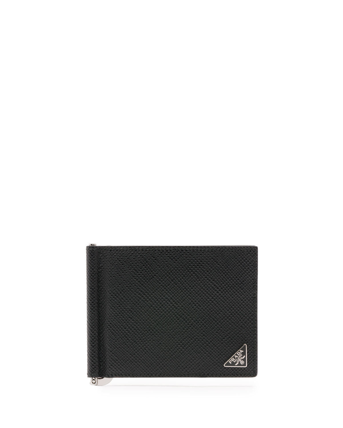 96a2117a921ffd Prada Saffiano Leather Money-Clip Wallet | Neiman Marcus