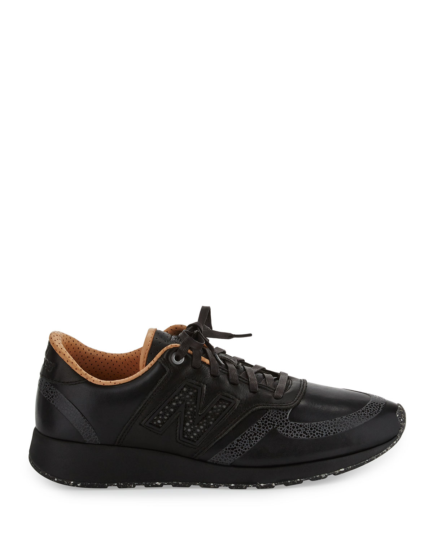 new balance men's mrl420 leather trainer sneaker