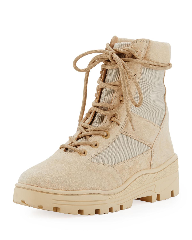5096ee3a581 Yeezy Men s Suede   Mesh Combat Boot
