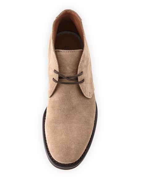 Men's Suede Desert Boot, Gray