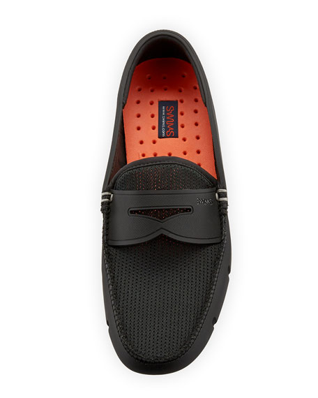 Image 2 of 3: Swims Mesh & Rubber Penny Loafer, Black