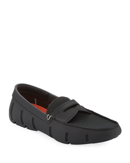 Image 1 of 3: Swims Mesh & Rubber Penny Loafer, Black