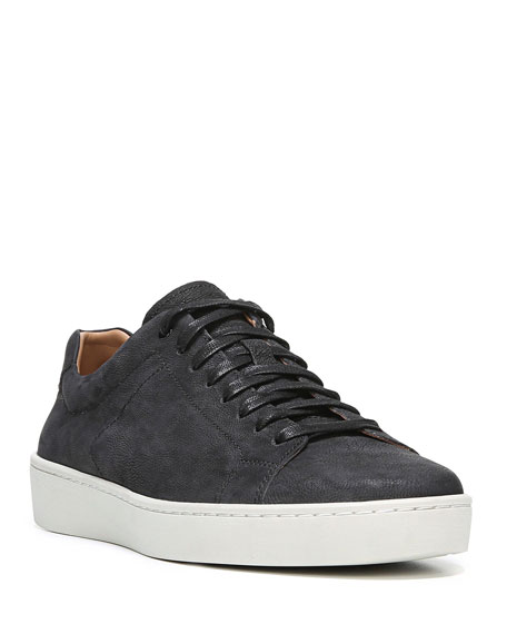 Image 1 of 3: Men's Slater Washed Nubuck Low-Top Sneakers