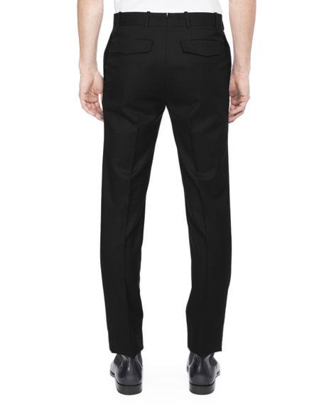 Wool-Silk Tuxedo Pants