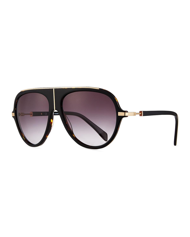 1bd08ca365e6 Balmain Acetate Aviator Sunglasses