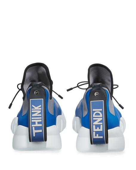 Fendi Men's Vocabulary High-Top Scuba Sneakers