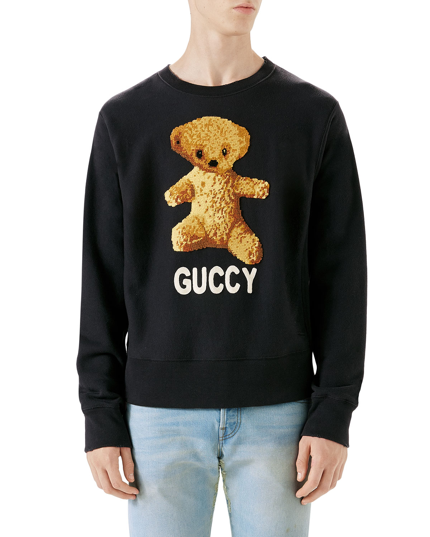 c4e88bb41 Gucci Guccy Teddy Bear Sweatshirt | Neiman Marcus