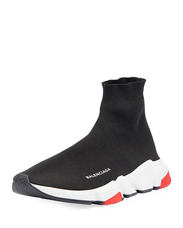 d6221997b9b6 Balenciaga Men s Speed Mid-Top Trainer Sock Sneakers