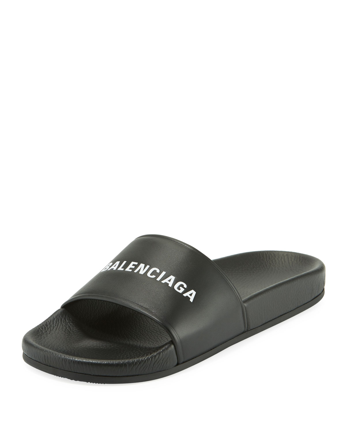 Balenciaga Men s Logo Pool Slide  6f111c2c021b7