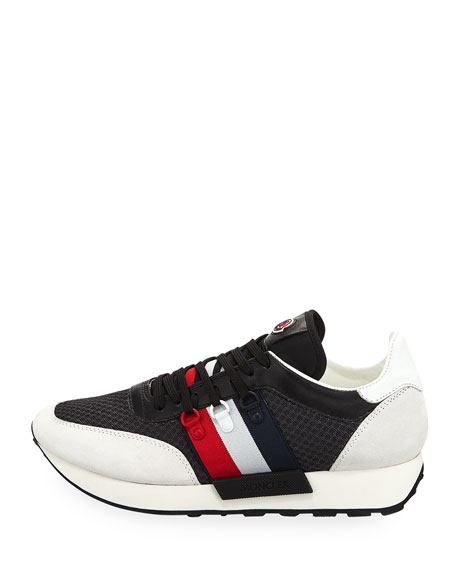 Moncler Men's New Horace Leather & Nylon Trainer Sneakers