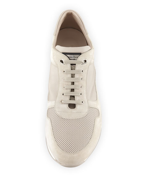 Image 3 of 5: Men's Suede and Leather Trainer Sneakers