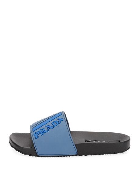 Men's Logo Rubber Slide Sandals
